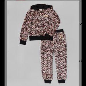 Beige & Black Leopard Hoodie & Pants